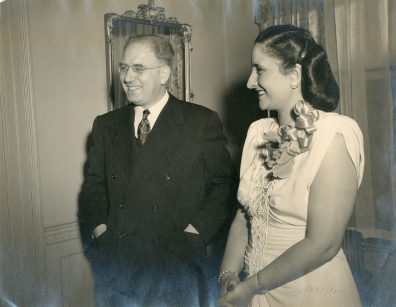 Dr. Zurayk and his wife, Najla in Washington D.C. at a social function, ca. 1940s