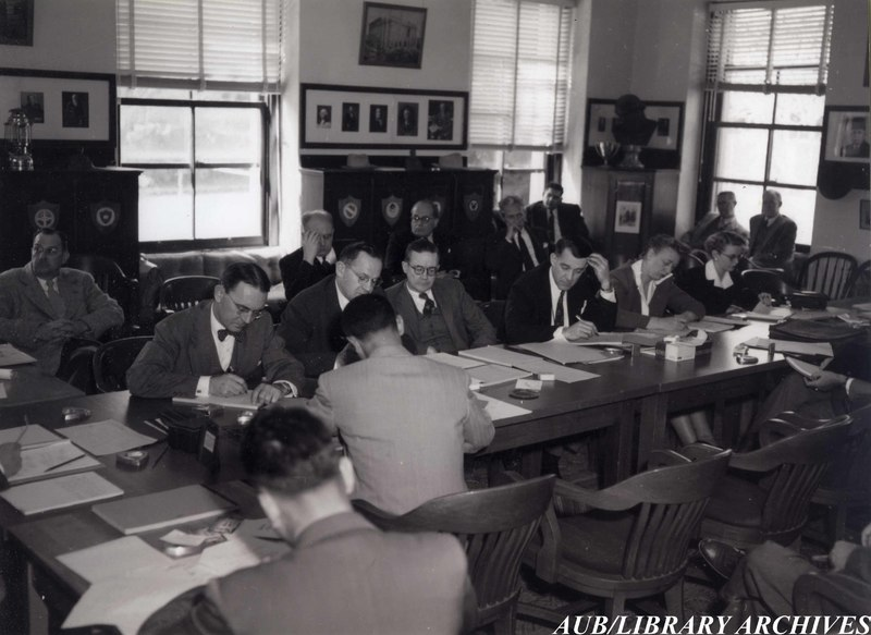 Meeting at Marquand House, 1940s