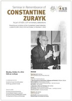 Seminar in remembrance of Constantine Zurayk