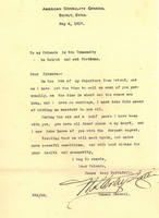 American Counsel Farewell Letter, May 6, 1917