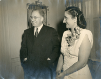 Dr. Zurayk and his wife, Najla Cortas, in Washington D.C. at a social function, ca. 1946