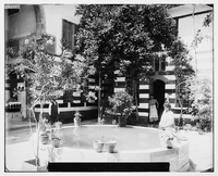 Typical Damascene House with inner courtyard at the turn of the 20th century<br /><br />