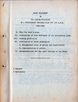 Draft statement of Preliminary ten-year plan               <br /><br /> For AUB 1956-1966 by Acting President Zurayk            <br /><br />